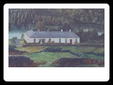 House at Camlough Lake oils on canvas 24x16 inches sold